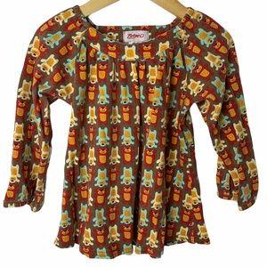 Zutano bear print dress tunic 3T